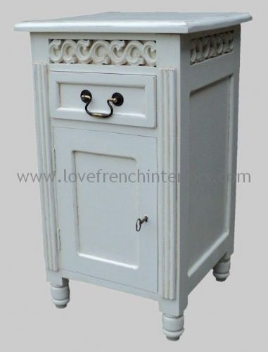 Rochelle Fret Work French Bedside in your choice of colour